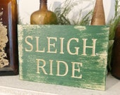 Wood Engraved Sleigh Ride...