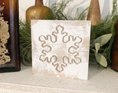 Wood Engraved Snowflake C...