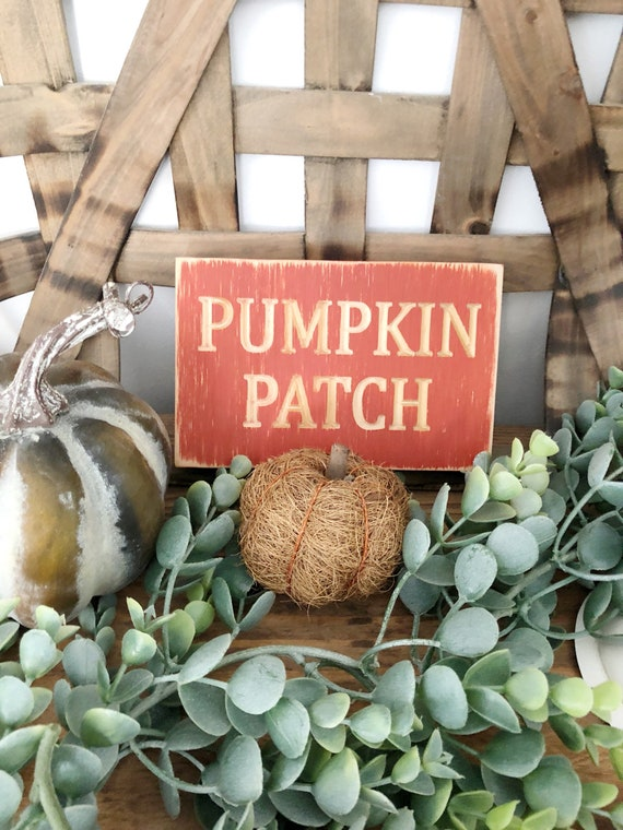 Pumpkin Patch Fall Wood Engraved Sign