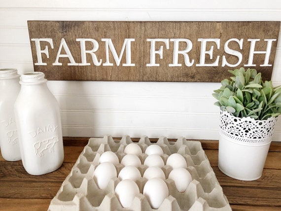 Farm Fresh Wood Engraved Sign