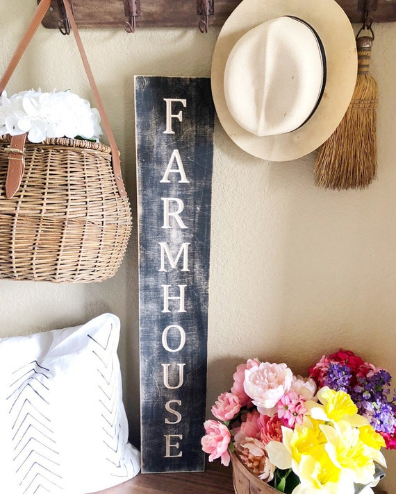 Farmhouse Wood Engraved Sign