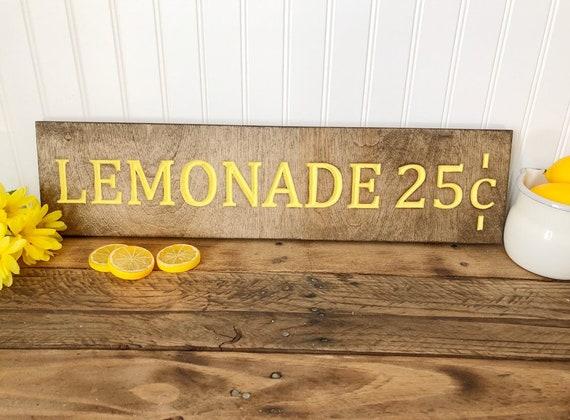 Lemonade Wood Engraved Sign