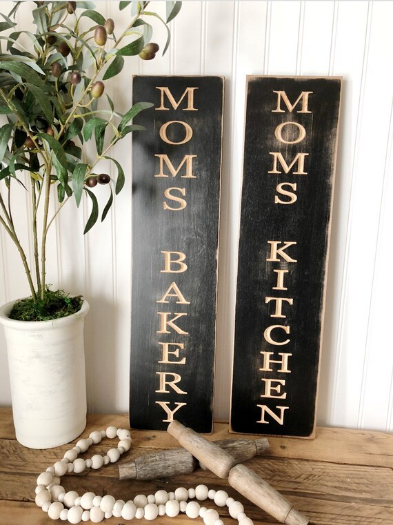 Moms Bakery/Kitchen Wood Engraved Sign