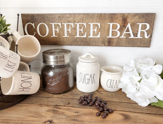 Coffee Bar Wood Engraved Sign