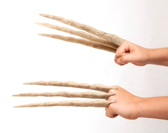 Jr. Wolverine Bone Claws - Hand Sculpted and Distressed - Comfortable and Easy to Assemble!