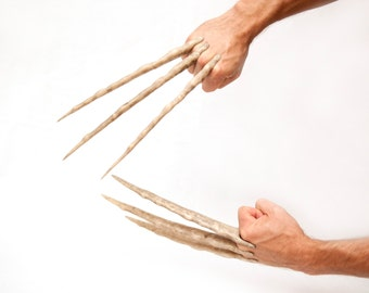 Screen Accurate Wolverine Bone Claws - Hand Sculpted and Distressed - Comfortable and Easy to Assemble!