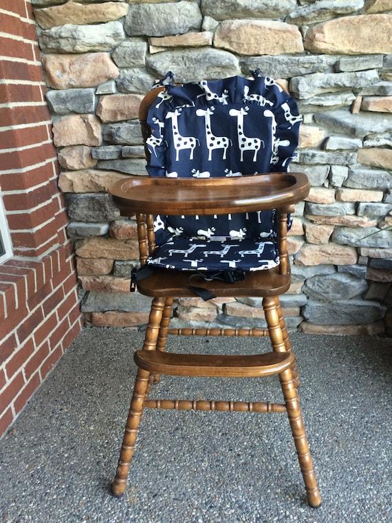 Phenomenal High Chair Cover Pad Cushion High Chair Cover Pad Cushion Navy Giraffe Cushion For Vintage Highchairs Navy Giraffe Inzonedesignstudio Interior Chair Design Inzonedesignstudiocom