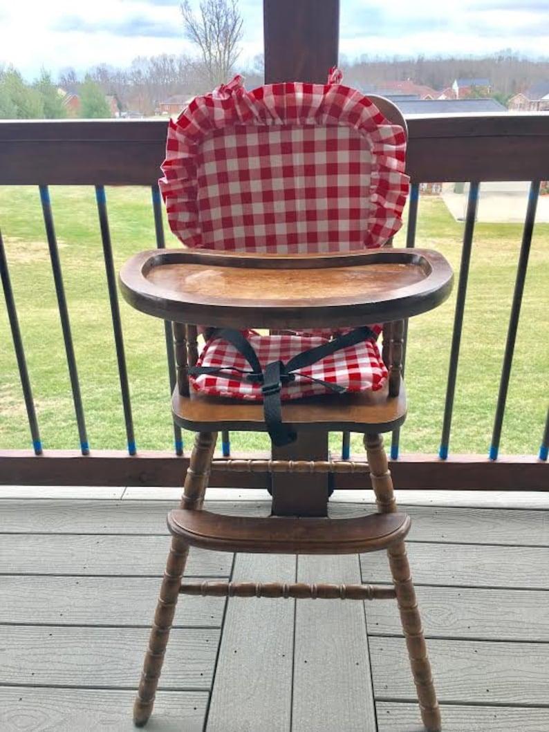 Wondrous Wooden High Chair Cushion Inzonedesignstudio Interior Chair Design Inzonedesignstudiocom