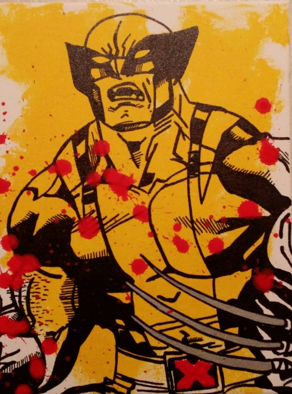 Wolverine From Amazing Xmen On Canvas