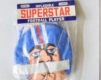 Superstar FOOTBALL PLAYER inflatable 1960s 24 inch