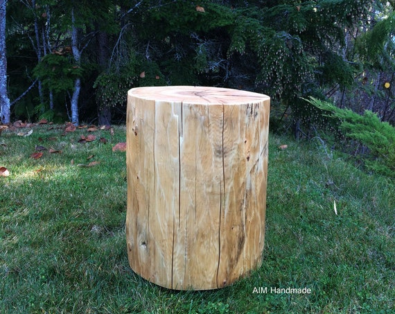 "Oversize reclaimed cedar stumps, 16"" wide reclaimed log end tables, Salvaged log stools, Solid wood tables, Handmade in BC, Canada"