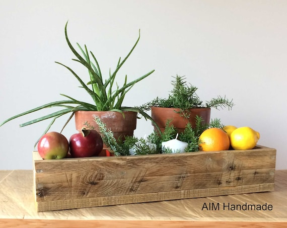 Rustic box, Reclaimed barn wood, Modern rustic solid wood display tray, Cabin style decor,  Thanksgiving gift idea, Handmade in BC, Canada