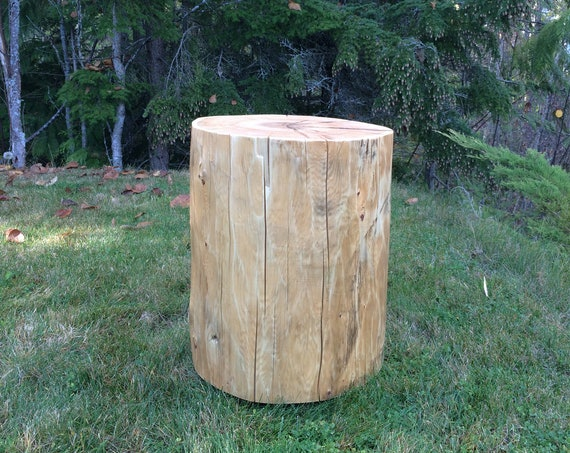 """Oversize cedar stumps, 16"""" wide reclaimed log end tables, Salvaged log stools, Solid wood tables, Handmade in BC, Canada"""