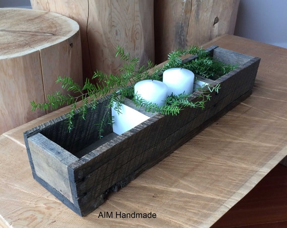 Barn wood box, Modern rustic display tray, Cabin style decor, Thanksgiving centrepiece, Hostess gift idea, handmade in BC, Canada