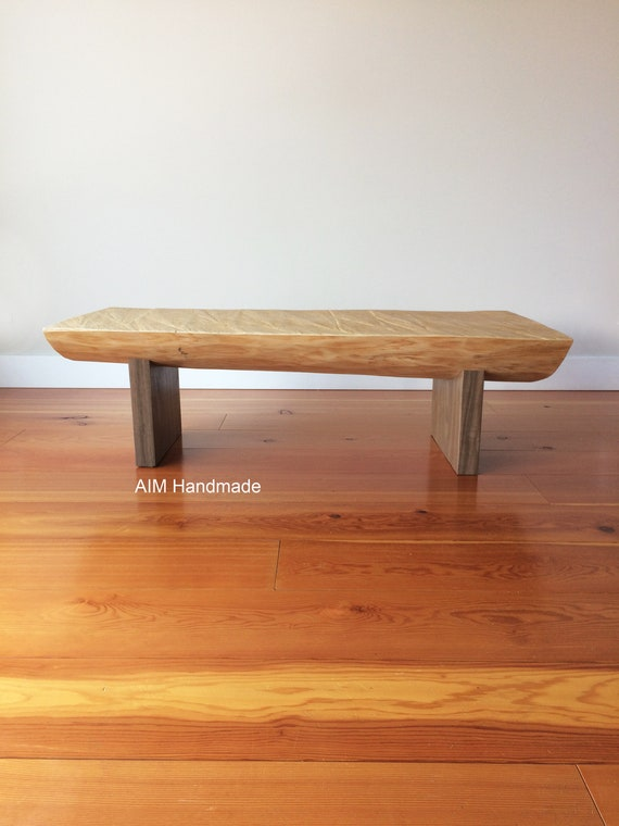 Reclaimed log table, live edge bench, log coffee table, stump side table, salvaged rustic log furniture, made in BC, Canada by AIM Handmade