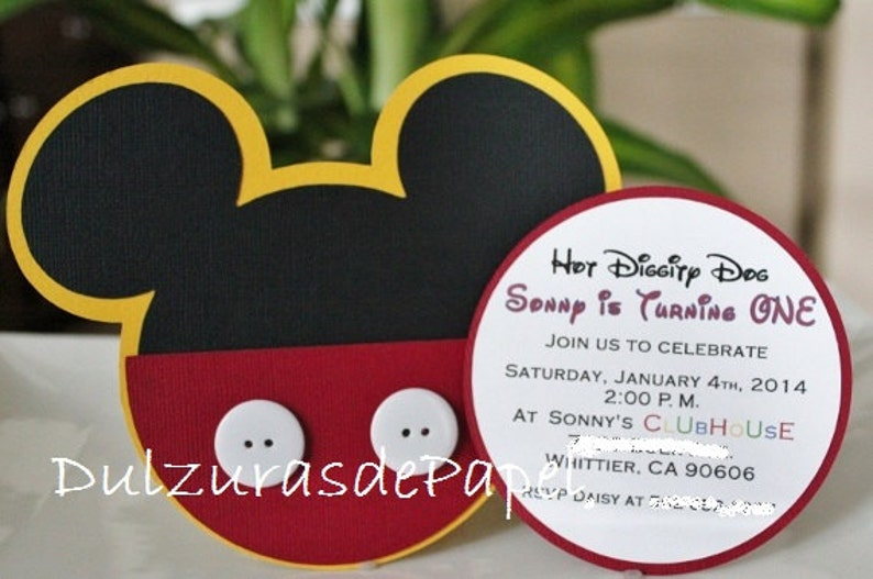 Mickey Mouse Mickey Mouse Invitation -Mickey Mouse Invites Mickey Mouse Party Invitations Mickey Mouse Party