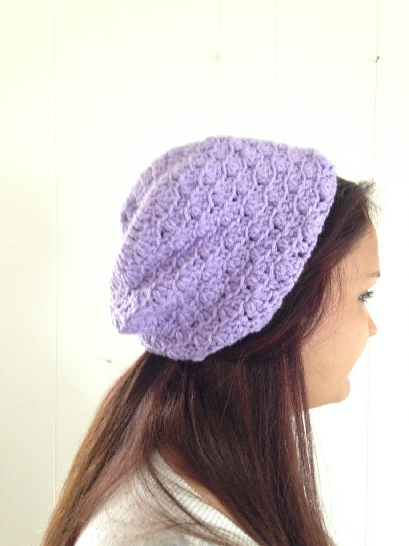 316b71f1220 Handmade Purple Beanie Hat Purple Slouchy Hat Crochet Hat
