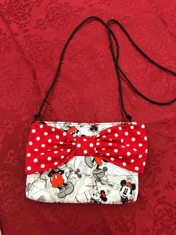 46b9ee7fcd5 Disney geïnspireerd handgemaakte handtas, Mickey en Minnie Mouse  portemonnee, handgemaakte tas, vrouwen accessoires, schoudertas, Disney  geschenken