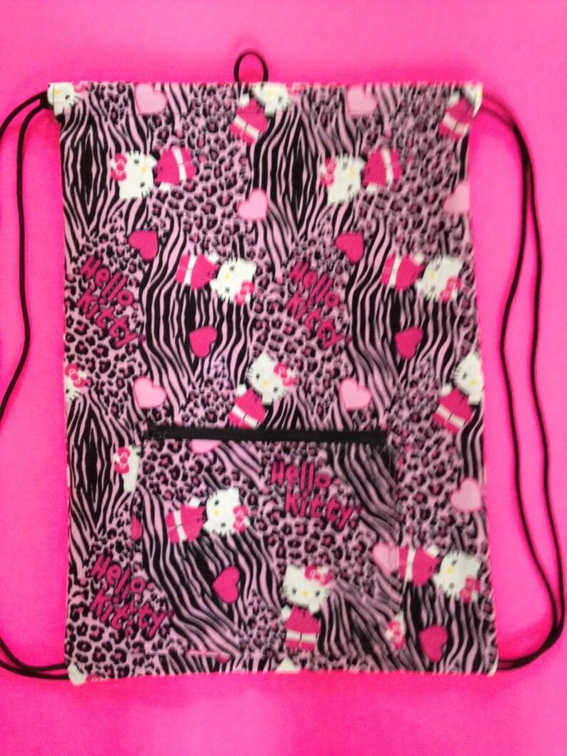 630ba01e9c5a Inspired Hello Kitty Drawstring BackpackKids School Bag Pink