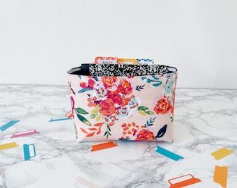 Pink Floral Home Decor. Gift Basket for Birthday Under 20. Travelers Notebook Storage. Sticker Organization Bin. Springtime Home Decor.