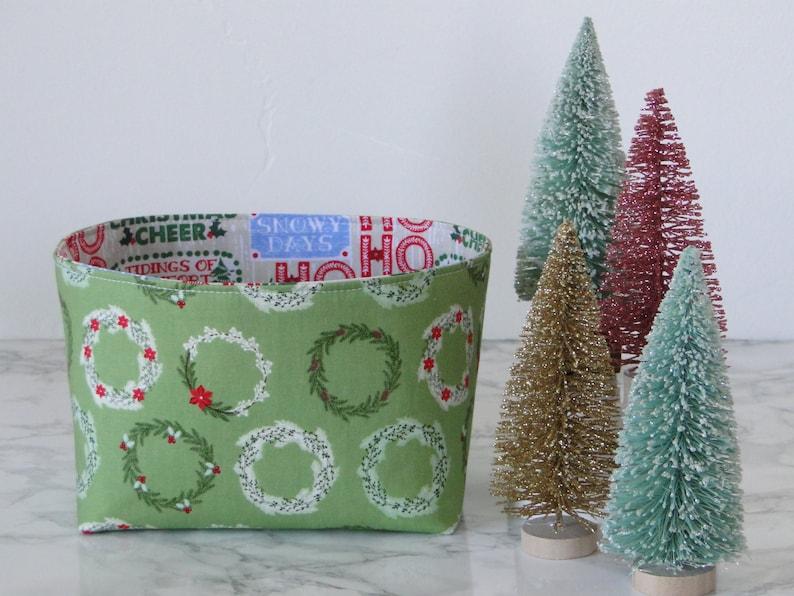 Mini Wreath Organizer Basket Christmas Home Decor Gift Etsy