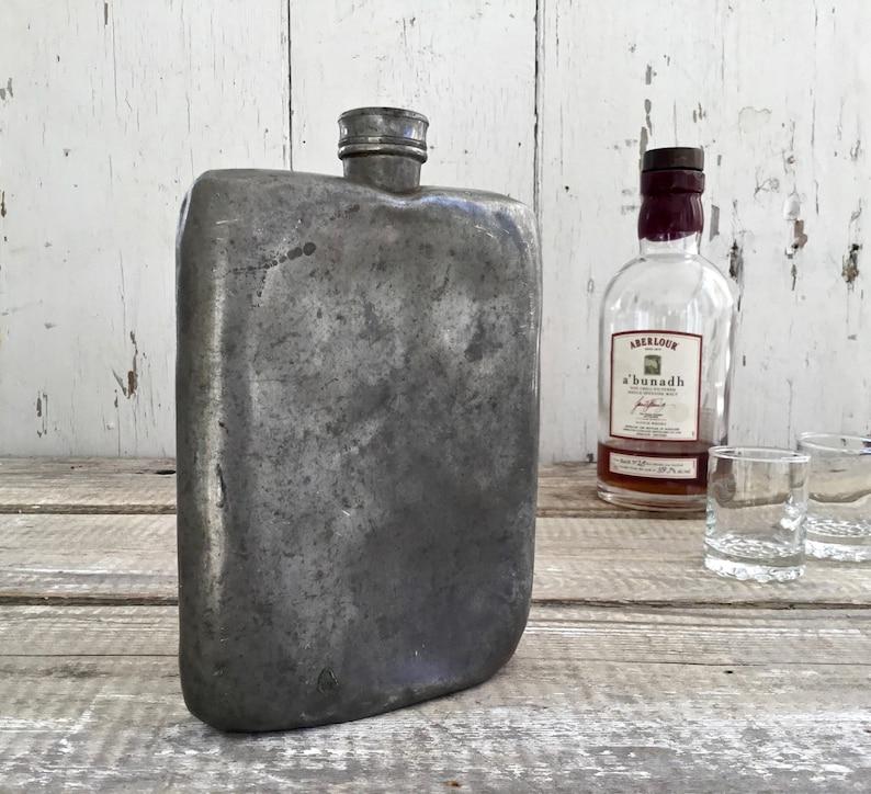 Antique Pewter Flask, James Dixon & Sons Mens' Sheffield Hip Flask