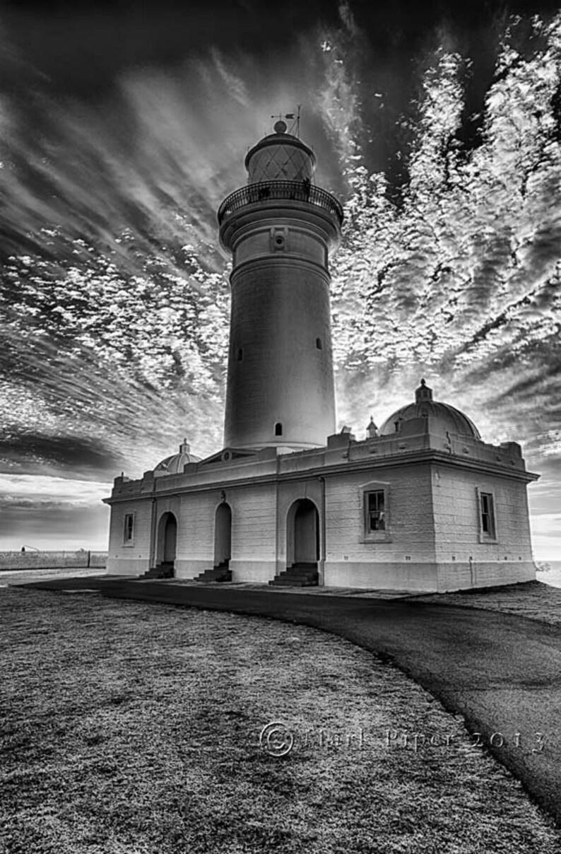 Morning glow lighthouse australian lighthouse black and white photography fine art wall art lightning photograph