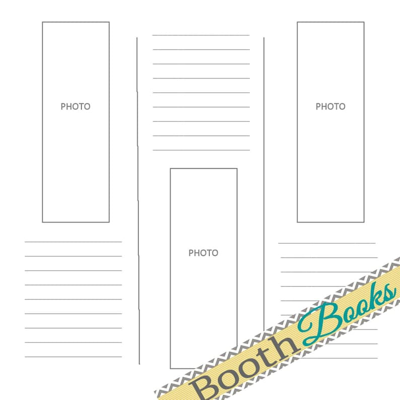 photograph relating to Printable Guest Book Pages identified as PDF 12x12 - Picture Booth Visitor E book Sbook Web site- Very simple