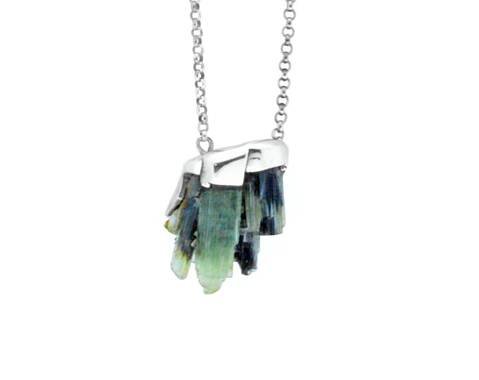 Tourmaline Labyrinth pendant