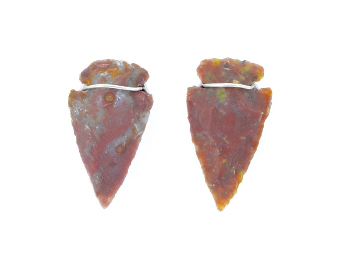 Arrow Head Red earrings