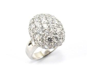 Sterling Silver and Swarovski QZ ring