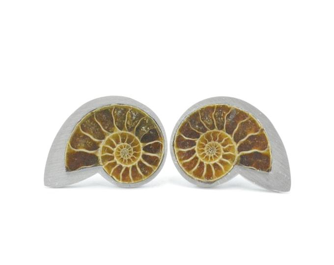 Nautilus cufflinks