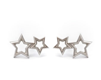 Binary Star earrings
