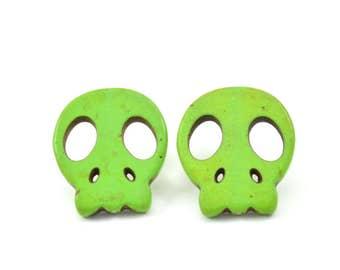 Candy Skull studs