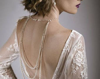 Sterling Silver and Pearl backlace