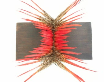 Pheasant feather sculpture