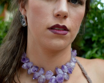 Amethyst necklace with Sterling Silver catch