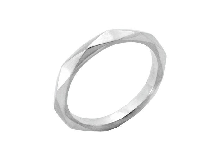Silver Facet ring