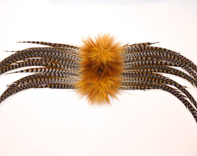 Pheasant feather sculpture