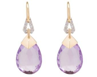Lavender Goddess earrings