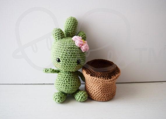 Cactalina Cactus Crochet PATTERN Removable Pot Crochet Etsy Extraordinary Crochet Cactus Free Pattern