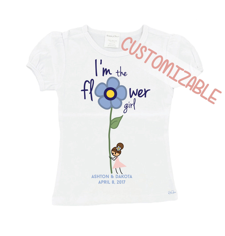 sur mesure je suis la fille de fleur de mariage t shirt. Black Bedroom Furniture Sets. Home Design Ideas
