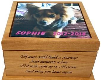 Pet memorial gift dog memorial gift pet urn cat memorial dog urn cat urn pet cremation urn keepsake box