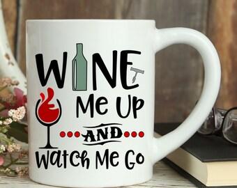 Wine Mug, Fall Decor, Autumn novelty Mug Pumpkin Spice Coffee Mug Gift for Wine lovers Funny gift For Women, Christmas Mug Wine Glass Coffee