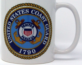 Coast Guard Gift Veterans day retirement Military gift idea retirement gift Coast Guard army CG coffee mug veteran's coffee mug  coasties