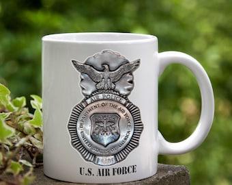 Military Veteran Retirement Gift Coffee Mug Air Police Retirement, Birthday, Anniversary Christmas Gift Air Force Gift
