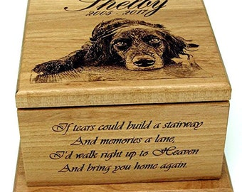 Pet Urn For Dog lovers gift Personalized Memorial Gift Large Pet Cremation Urn For Ashes Big Dog box Custom Urn Pet Photo Gifts Memorial Box