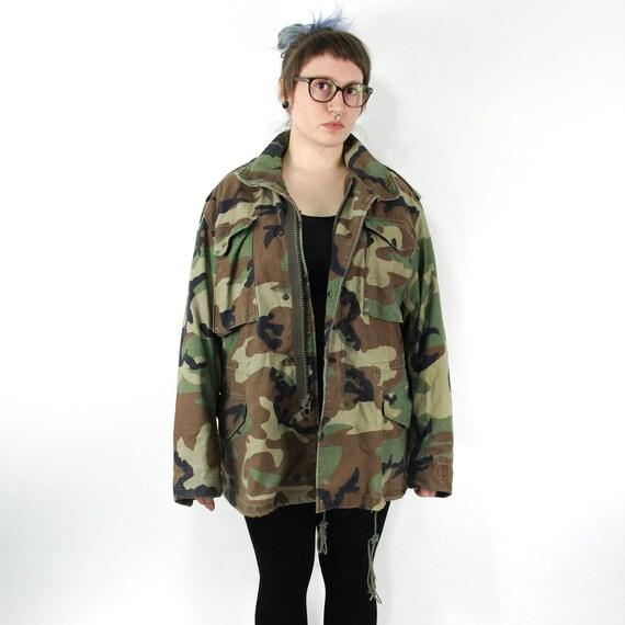 Camo Army Jacket Vintage M65 Field Jacket Workwear  d89027c40ac