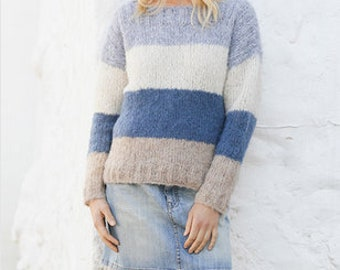 1da64fe5d927ab Hand knit summer sweater  wool  woman sweater  mochair  Sweater long sleeve   oversize Different colors available