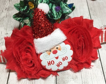 Christmas Headband for Girls, Santa Headband, Baby Headbands, Little Girls Headband, Christmas Headbands, Toddler Santa Headbands